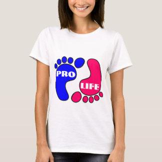 Favorable camiseta de los pies de la vida