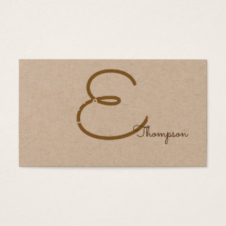 favorable contacto-tarjeta/monograma original en tarjeta de negocios