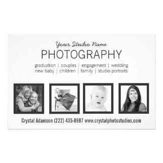 Favorable fotógrafo de 4 fotos o cualquier profesi folleto 14 x 21,6 cm