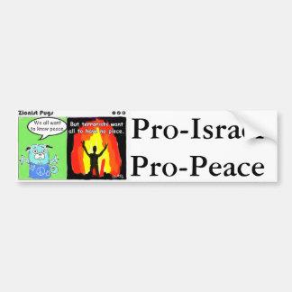 Favorable-Israel, pegatina para el parachoques de