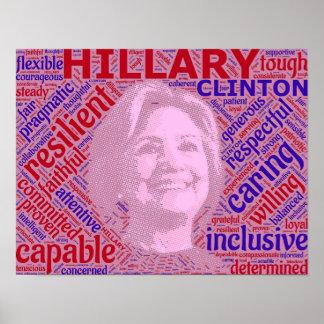 Favorable poster de la ayuda de Hillary Clinton Póster