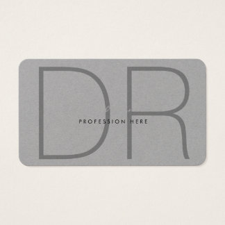 favorable premio gris con monograma, moderno, tarjeta de negocios