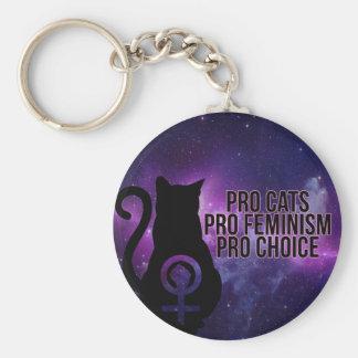 Favorables gatos, favorable feminismo, favorable llavero