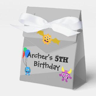 Favores de la fiesta de cumpleaños del monstruo caja de regalos
