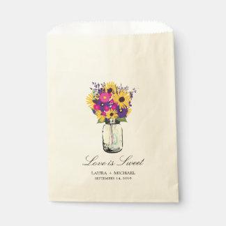 Favores de las margaritas y de los girasoles el | bolsa de papel