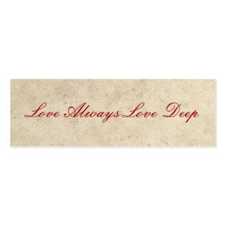 Favores del boda - del amor amor siempre tarjetas de visita mini