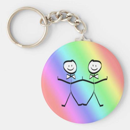 Favores gay del boda del orgullo del arco iris llavero personalizado