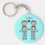 Favores gay del boda llaveros personalizados