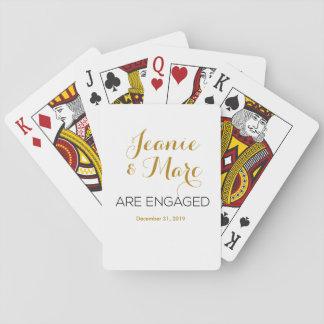 Favores personalizados del naipe del compromiso baraja de cartas