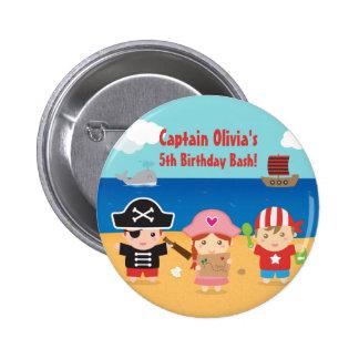 Favores temáticos de la fiesta de cumpleaños de chapa redonda de 5 cm