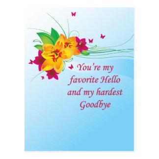 Favorito hola lo más difícilmente posible adiós postal