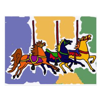 FB arte popular de los caballos artísticos del Postal