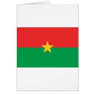 FB de la bandera de Burkina Faso Tarjeta De Felicitación