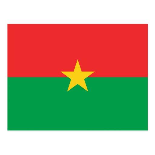 FB de la bandera de Burkina Faso Tarjeta Postal