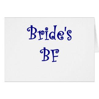 FB de las novias Tarjeta De Felicitación