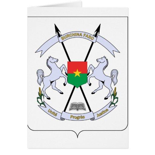 FB del escudo de armas de Burkina Faso Felicitación