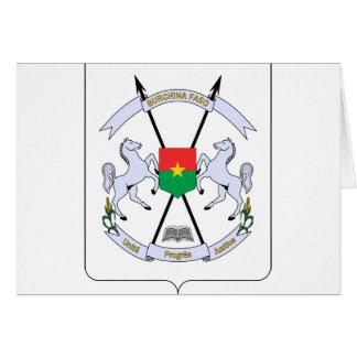 FB del escudo de armas de Burkina Faso Tarjeta De Felicitación
