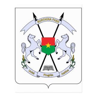 FB del escudo de armas de Burkina Faso Postal