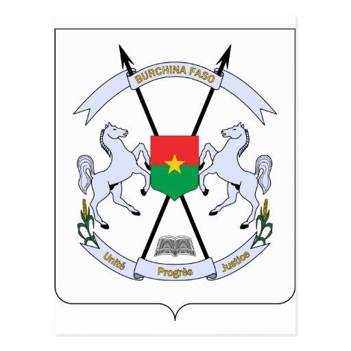 FB del escudo de armas de Burkina Faso Tarjetas Postales