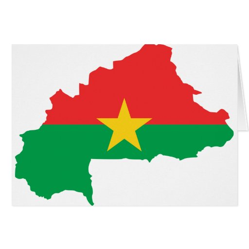 FB del mapa de la bandera de Burkina Faso Felicitacion
