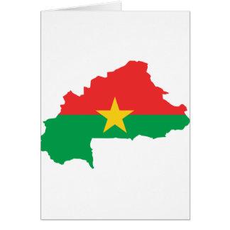 FB del mapa de la bandera de Burkina Faso Tarjeta De Felicitación