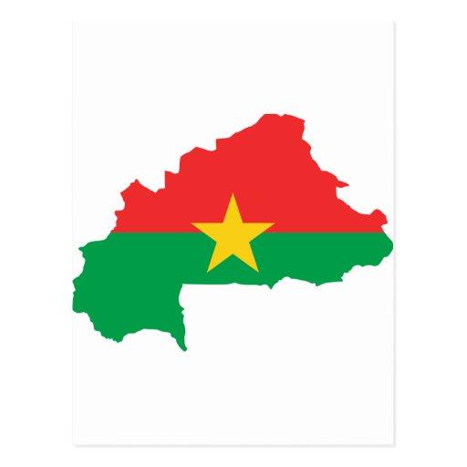 FB del mapa de la bandera de Burkina Faso Tarjeta Postal