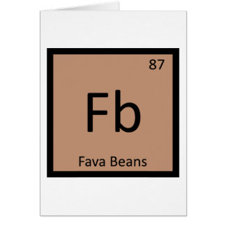 Fb - Símbolo de la tabla periódica de la química Tarjeta De Felicitación