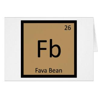 Fb - Tabla periódica de la química de la legumbre Tarjeta De Felicitación