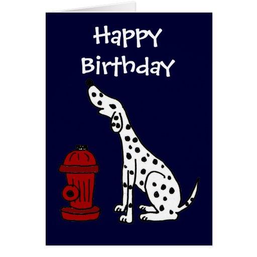 FB tarjeta de cumpleaños dálmata linda del perro