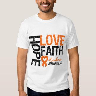 Fe del amor de la esperanza de la leucemia camisetas