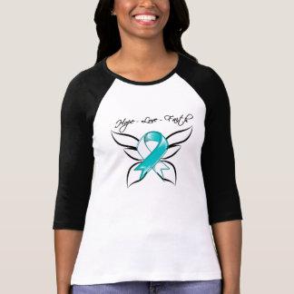 Fe del amor de la esperanza del cáncer de cuello camisetas
