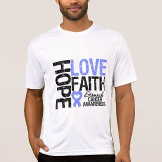 Fe del amor de la esperanza del cáncer de estómago camisetas