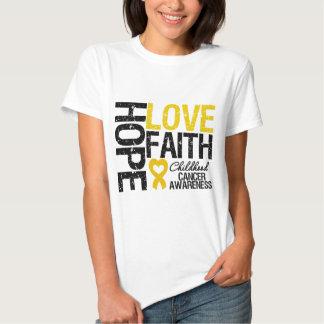 Fe del amor de la esperanza del cáncer de la niñez camiseta