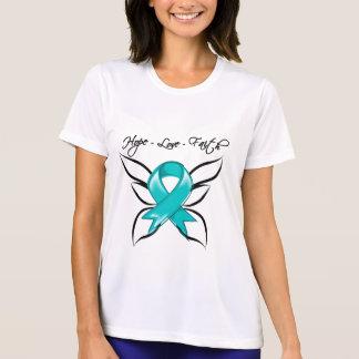 Fe del amor de la esperanza del cáncer ovárico camisetas