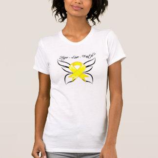 Fe del amor de la esperanza del cáncer testicular camiseta