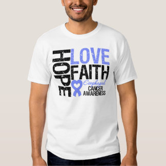 Fe del esófago del amor de la esperanza del cáncer camisetas