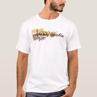 Fe, esperanza, amor - Brown - restauración de Camiseta