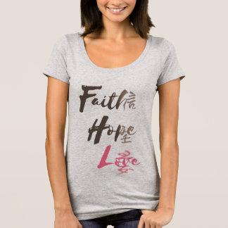 Fe, esperanza, amor camiseta