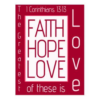 Fe, esperanza, amor postal
