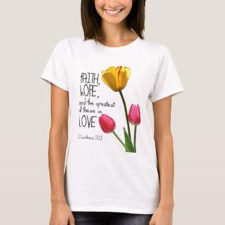 """+ """"Fe, esperanza, el T de las mujeres del tulipán Camiseta"""