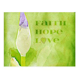 Fe, esperanza, iris del amor postal