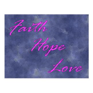 Fe, esperanza, postal del amor