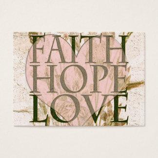 Fe, esperanza y amor tarjeta de negocios