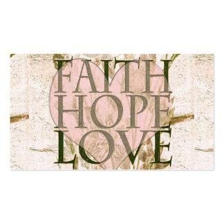 Fe, esperanza y amor tarjetas de visita