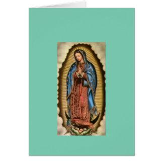 Fe, Virgen María bendecido Tarjeta De Felicitación