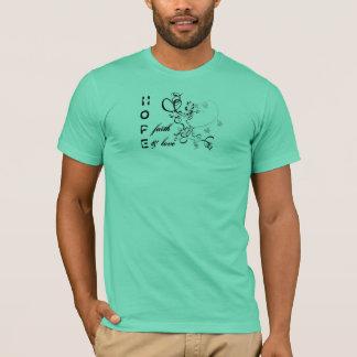 Fe y amor de la esperanza camiseta