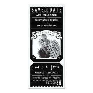 Fecha de la reserva de la foto del boleto de invitación 10,1 x 23,5 cm