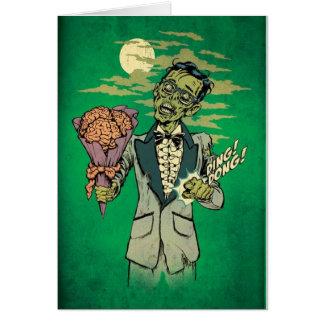 fecha del baile de fin de curso del zombi con los tarjeta de felicitación