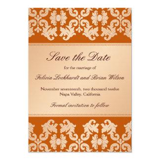 Fecha elegante de la reserva del boda del ensueño invitación 12,7 x 17,8 cm
