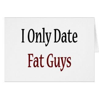 Fecho solamente a individuos gordos tarjeta de felicitación